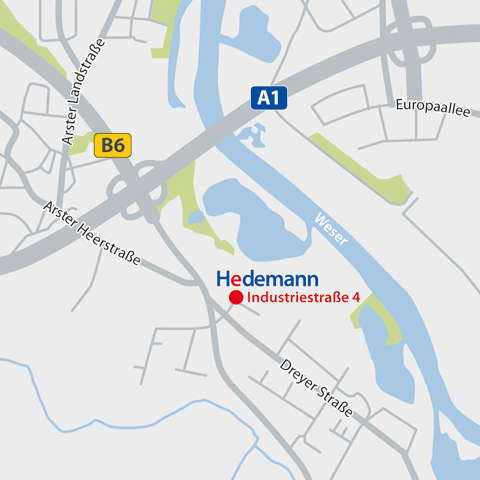 Hedemann: Lageplan
